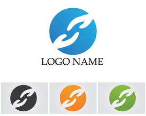 Hands help logo