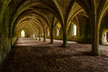 Fountains abbey peristyle, England.