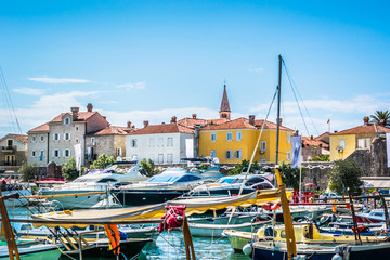 Buda summer destination Montenegro. / View at popular touristic summer destination in Montenegro, Budva town.