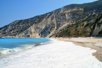 Amazing landscape of Myrtos beach, Kefalonia, Ionian islands, Greece