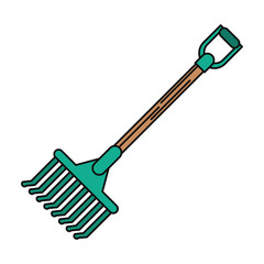 rake tool icon. Farm lifestyle agriculture and harvest theme. Isolated design. Vector illustration