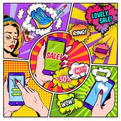 E-commerce Comics Page