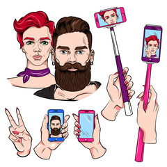 Selfie Sketches Set