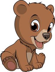 Little funny bear