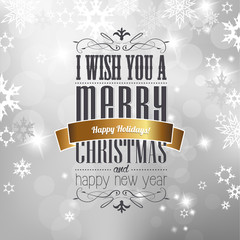 Christmas greeting card front cover page with Christmas best wis