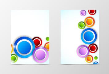 Front and back digital flyer template design