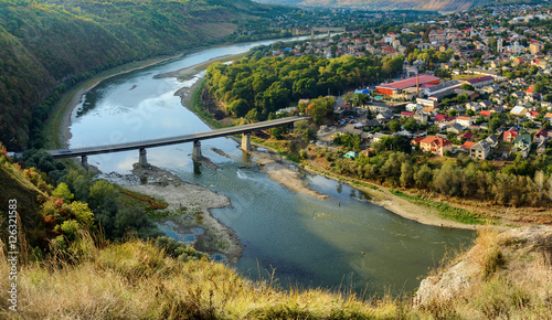 """""""Panorama of Zalishchyky and the Dniester River from the ..."""