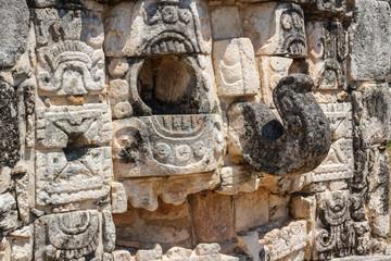 Ruins of the ancient Mayan city of Mayapan, Mexico
