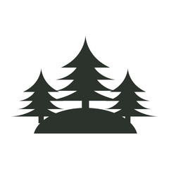 tree pine forest icon vector illustration design