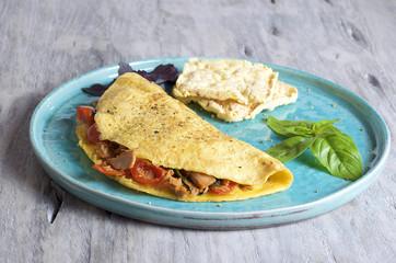 Tomato and Tuna omelette