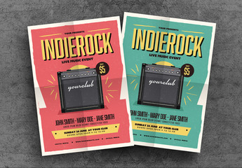 Indie Gigs Poster Layout