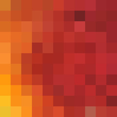 Abstract orange background from color pixels