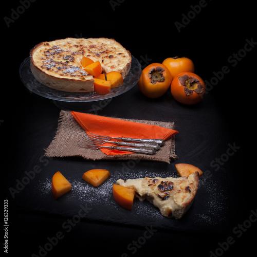 """Fresh Persimmon Cake"""" Fotos de archivo e imágenes libres de derechos ..."""