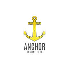 Anchor logo icon. Sea, sailor symbol. Anchor logo. Anchor icon. Anchor symbol, anchor tattoo. Flat style logo template. Anchor label, decor logo, premium quality logo concept. Summer design
