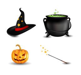 set of halloween item