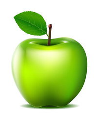 fresh Green apple for you design