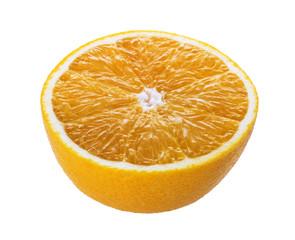 fresh orange fruit  isolated on white background with clipping Path