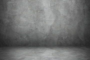 Fotorolgordijn Stenen cement wall and floor with shadow for pattern and background