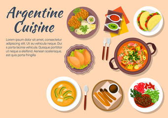 Authentic dishes of argentine cuisine