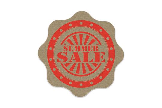 summer sale stamp on paper
