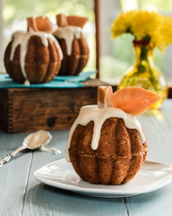 Pumpkin  shaped muffins