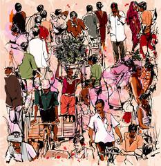 In de dag Art Studio Street market in India