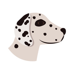 cute dalmatian dog animal icon over white background. side view. vector illustration