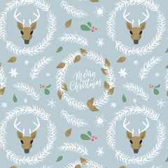 Christmas Holiday Background. Pattern with winter symbols. Christmas and New Year congrats. Season greetings. Lettering for postcards and greetings to family and friends