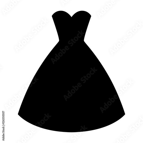 """Woman Wedding Dress Silhouette. Simple And Elegant Woman"