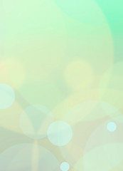 Yellow bokeh abstract green background