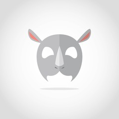 Animal mask vector isolated. Party costume cute cartoon animals carnival mask