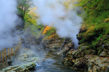 紅葉の小安峡