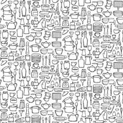 Kitchen Doodle Seamless Pattern