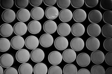 stack of round paper tube