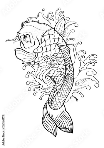 The gallery for koi fish vector tattoo for Koi fish vector