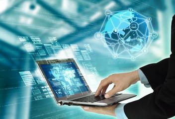 Internet Information Programming Technology Concept
