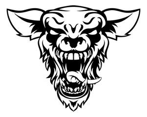 Wolf or Werewolf Mascot