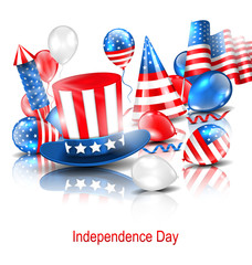 Party Background in Traditional American Colors