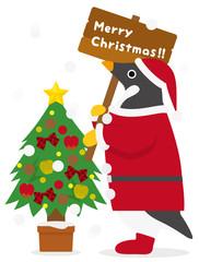 アデリーペンギン クリスマス