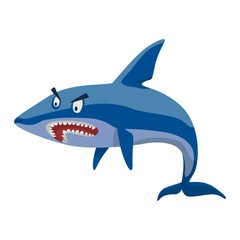Vector shark character