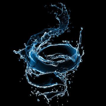splash of juice isolated on black background. beautiful splash of wine close-up.   water splash. oil splash. water spray with drops isolated.