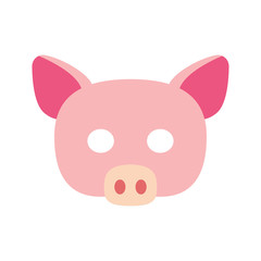Cartoon piggy mask vector