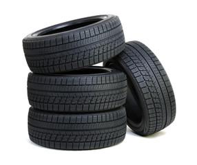 tires on white
