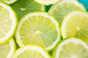Close-up of sliced lemons