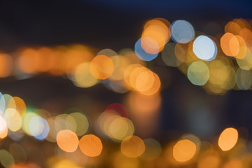 Lights of the city at night, abstract background