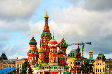 Saint Basil Cathedral on Red Square in Moscow