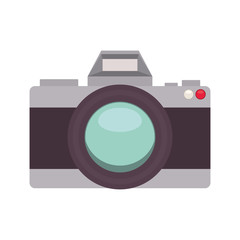 silhouette with analog photo camera vector illustration