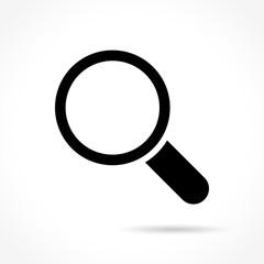 search icon on white background - fototapety na wymiar