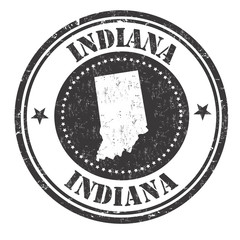 Indiana sign or stamp