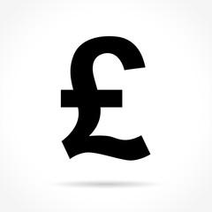pound icon on white background
